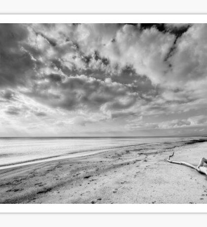 Clouds over Casabianda beach Sticker