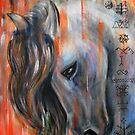 Latvian mythology horse by Inese