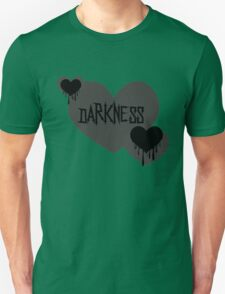 Darkness Heart - Grey and Black Unisex T-Shirt