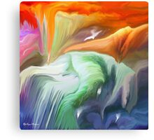 Flowing- Abstract- 26/wall art +Clothing & Art + Products Design  Canvas Print