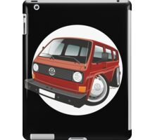 VW T3 bus caricature red iPad Case/Skin