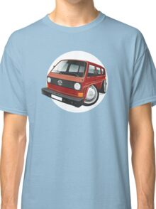 VW T3 bus caricature red Classic T-Shirt