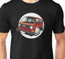 VW T3 bus caricature red Unisex T-Shirt