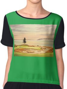 Chambers Bay Golf Course Chiffon Top