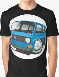 VW T3 bus caricature blue Graphic T-Shirt