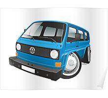 VW T3 bus caricature blue Poster