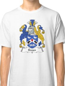 Swan Coat of Arms / Swan Family Crest Classic T-Shirt