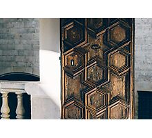 Sunlit Wooden Door Photographic Print