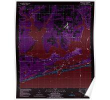 USGS TOPO Map Alabama AL Orange Beach 304753 1980 24000 Inverted Poster