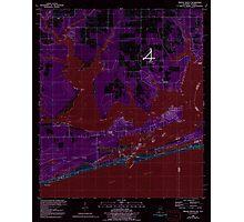 USGS TOPO Map Alabama AL Orange Beach 304753 1980 24000 Inverted Photographic Print