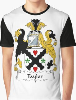 Taylor Coat of Arms / Taylor Family Crest Graphic T-Shirt