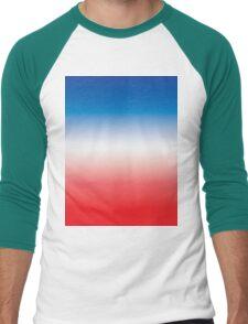 Red White & Blue Ombre Men's Baseball ¾ T-Shirt