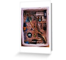 Snake in a box - inspired by Joseph Cornell boxes Greeting Card