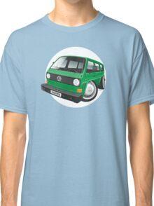 VW T3 bus caricature green Classic T-Shirt