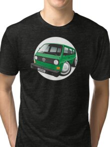 VW T3 bus caricature green Tri-blend T-Shirt