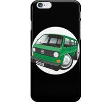VW T3 bus caricature green iPhone Case/Skin