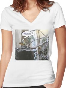 Prison Break! Please Don't Tell Anyone I Am Almost Out! Women's Fitted V-Neck T-Shirt