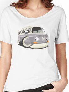 VW T2 bus caricature grey Women's Relaxed Fit T-Shirt