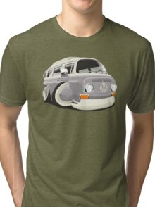 VW T2 bus caricature grey Tri-blend T-Shirt