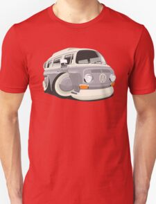 VW T2 bus caricature grey Unisex T-Shirt