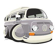VW T2 bus caricature grey Photographic Print