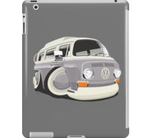 VW T2 bus caricature grey iPad Case/Skin