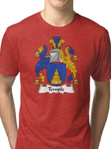 Temple Coat of Arms / Temple Family Crest Tri-blend T-Shirt