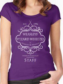 Weasleys' Wizard Wheezes Staff Shirt Purple Women's Fitted Scoop T-Shirt