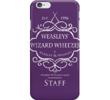 Weasleys' Wizard Wheezes Staff Shirt Purple iPhone Case/Skin