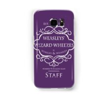 Weasleys' Wizard Wheezes Staff Shirt Purple Samsung Galaxy Case/Skin