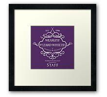 Weasleys' Wizard Wheezes Staff Shirt Purple Framed Print