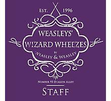 Weasleys' Wizard Wheezes Staff Shirt Purple Photographic Print