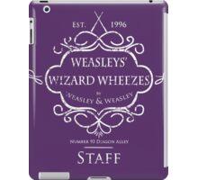 Weasleys' Wizard Wheezes Staff Shirt Purple iPad Case/Skin