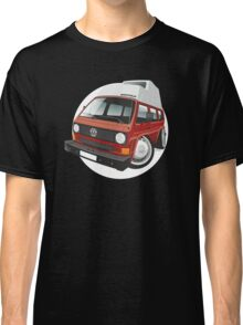 VW T3 camper caricature red Classic T-Shirt
