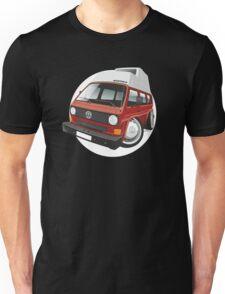 VW T3 camper caricature red Unisex T-Shirt