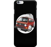 VW T3 camper caricature red iPhone Case/Skin