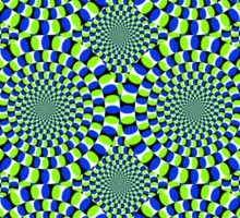 Rotating Snakes Illusion Sticker