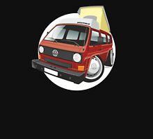 VW T3 pop-top camper caricature red Unisex T-Shirt