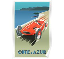 Côte d'Azur / French Riviera Vintage Travel Poster Poster