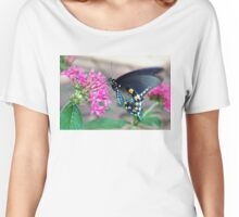 Beautiful Blue Butterfly Women's Relaxed Fit T-Shirt
