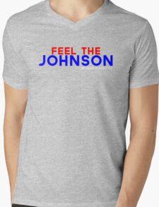 Feel the Johnson Mens V-Neck T-Shirt