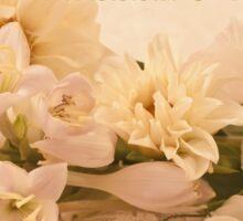 Wedding Wishes Card - White Flowers  Sticker
