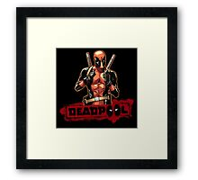 cool deadpool Framed Print