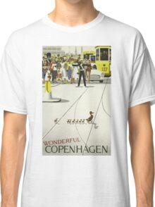 Wonderful Copenhagen / Vintage Travel Poster Classic T-Shirt