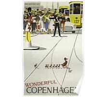 Wonderful Copenhagen / Vintage Travel Poster Poster