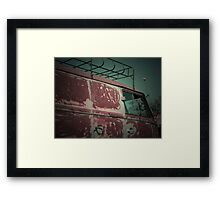 Rat Look VW Split Screen (Splitty) Van Image Framed Print