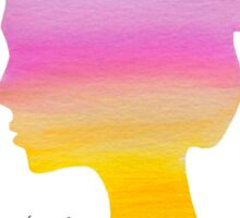 Colourful Landscape Girl Double Exposure Sticker