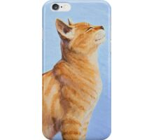 Brushing the Cat - Oil Painting iPhone Case/Skin