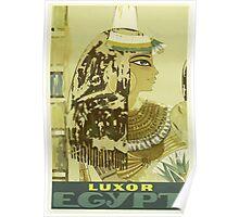Luxor, Egypt Vintage Travel Poster Poster
