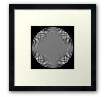 Sun Op Art Framed Print